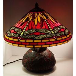 """Lampa witrażowa """"Ważki"""" kompletna z podstawą"""