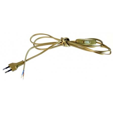 Przewód złoty z wyłącznikiem, 2mb