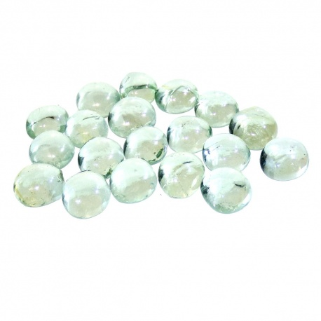 Kaboszony - oczka szklane 17 bezbarwne iryzowane, 200g