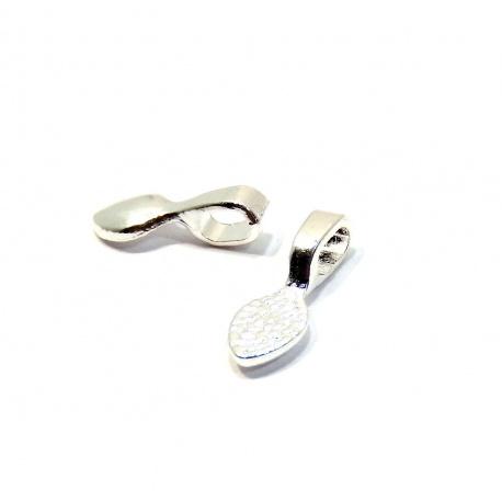 Uszko do biżuterii srebrne 16x6mm