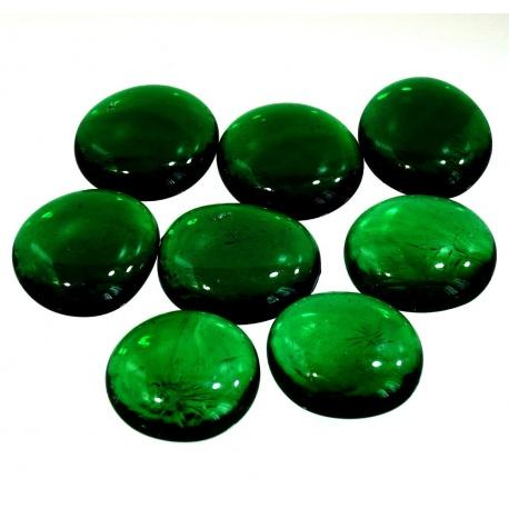 Kaboszony duże - oczka szklane 26 zielone, 200g