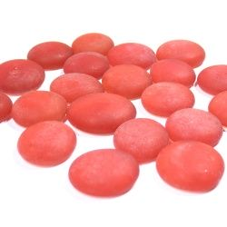 Kaboszony - oczka szklane 16b jasna czerwień matowa, 200g