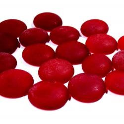 Kaboszony - oczka szklane 16c ciemna czerwień matowa, 200g