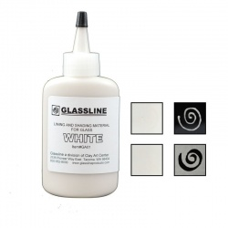 Glassline - farba do fusingu biała