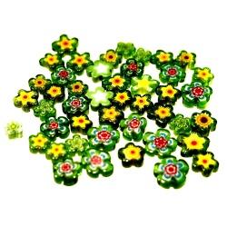 Koraliki Millefiori 100g zielone