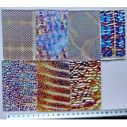 Szkło Dichroic bezbarwny podkład, coe90, 220g B