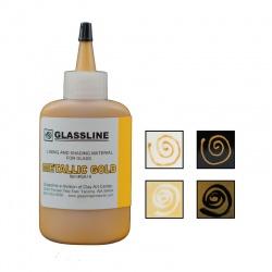 Glassline - farba do fusingu - złota