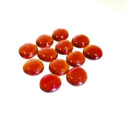 Kaboszony - oczka szklane 02b pomarańczowe, 200g