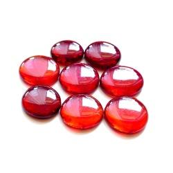 Kaboszony duże - oczka szklane 30 jasno czerwone, 200g