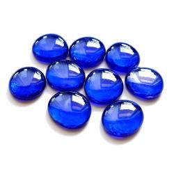 Kaboszony duże - oczka szklane 22a niebieskie, 200g