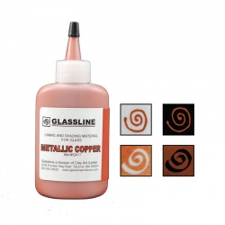 Glassline - farba do fusingu - miedziana