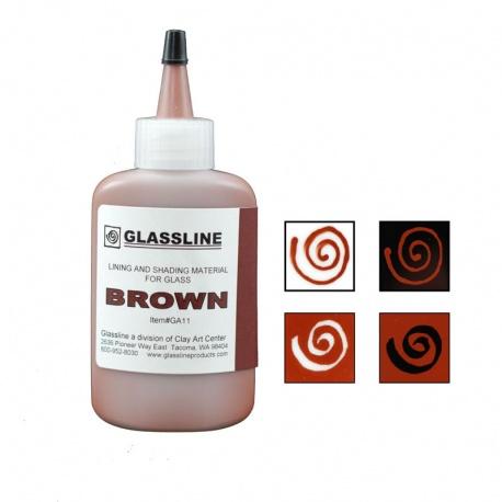 Glassline - farba do fusingu - brązowa
