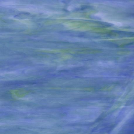 Szkło witrażowe 623 niebiesko zielone