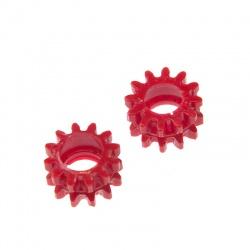 Czerwone gumowe kółka do stabilizatora w pilarce Taurus 3