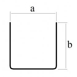 Profil blaszany, cynkowy U 6x6