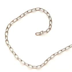 Łańcuszek drobny srebrny 1mb