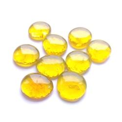 Kaboszony duże - oczka szklane 25 żółte, 200g