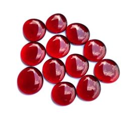 Kaboszony duże - oczka szklane 29 czerwone, 200g