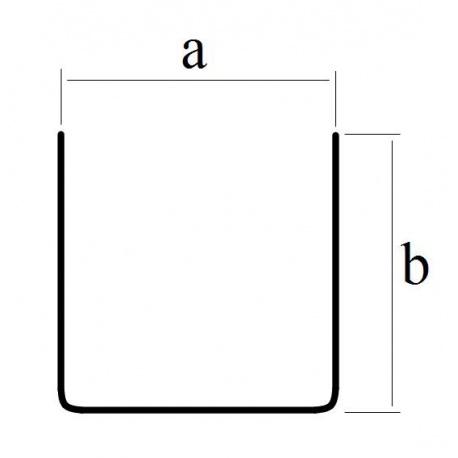 Profil blaszany, cynkowy U 4x4
