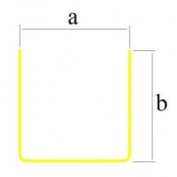 Profil blaszany, mosiężny U 3x4