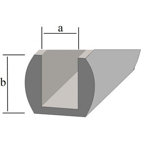Profil ołowiany C 3x3,5mm